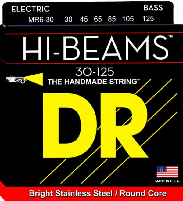DR Strings HI-Beam 6 String Medium (30-125)