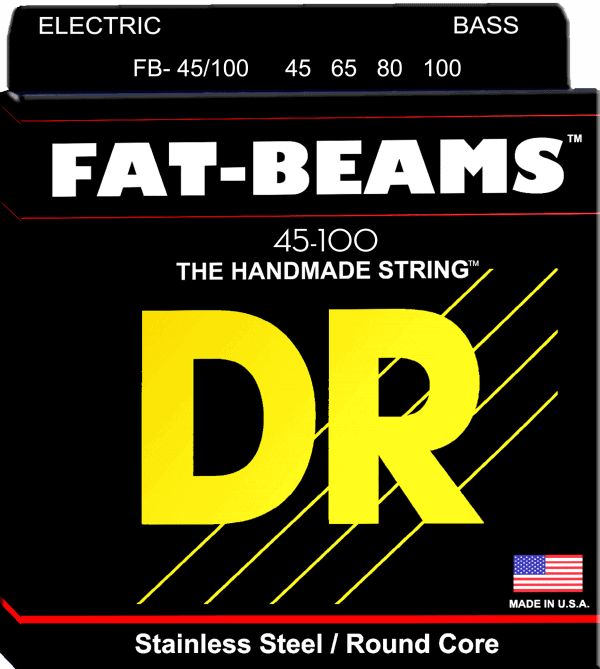 DR Strings Fat Beam 4 String Medium Lite (45-100)