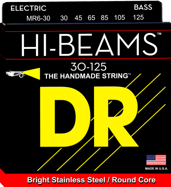 DR Strings HI-Beam 6 String Medium (30-125)