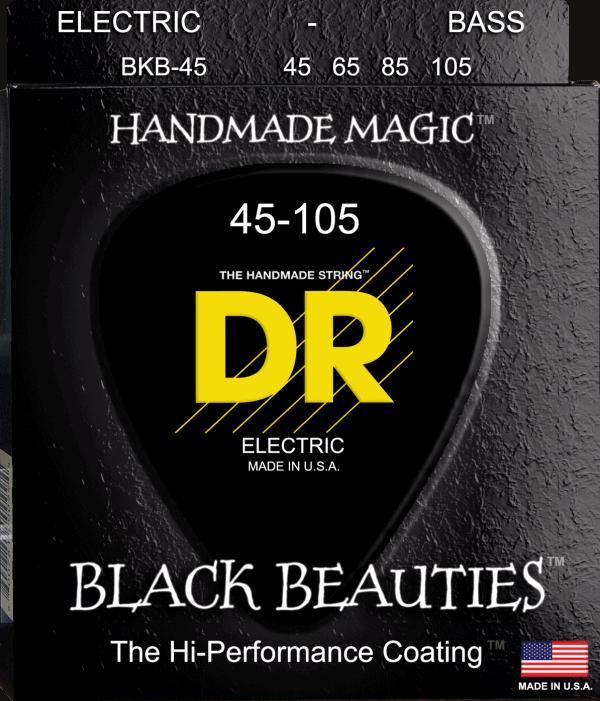 DR Strings Black Beauties 4 String Medium (45-105)