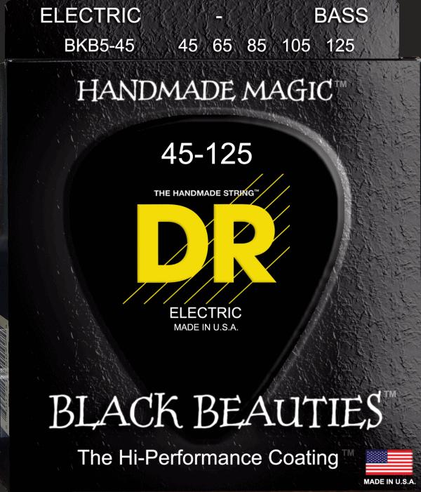 DR Strings Black Beauties 5 String Medium (45-125)