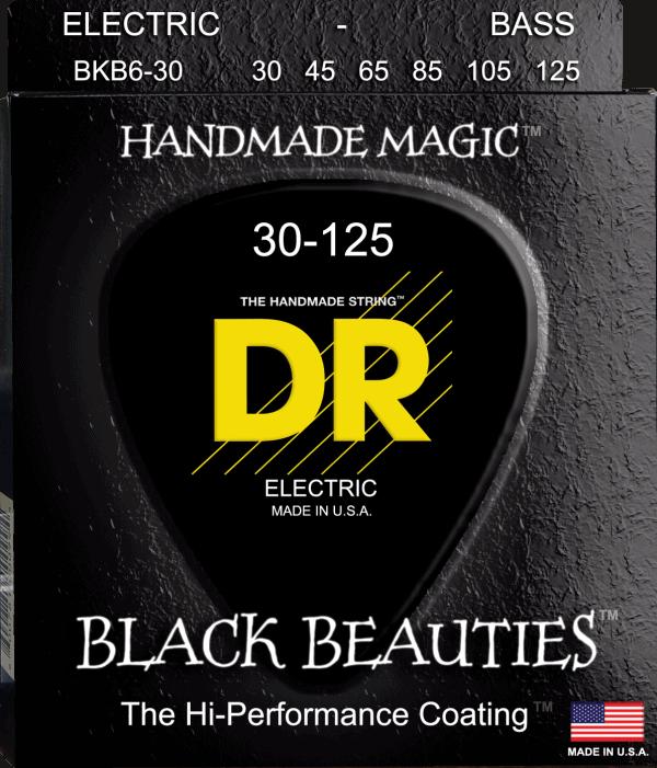 DR Strings Black Beauties 6 String Medium (30-125)