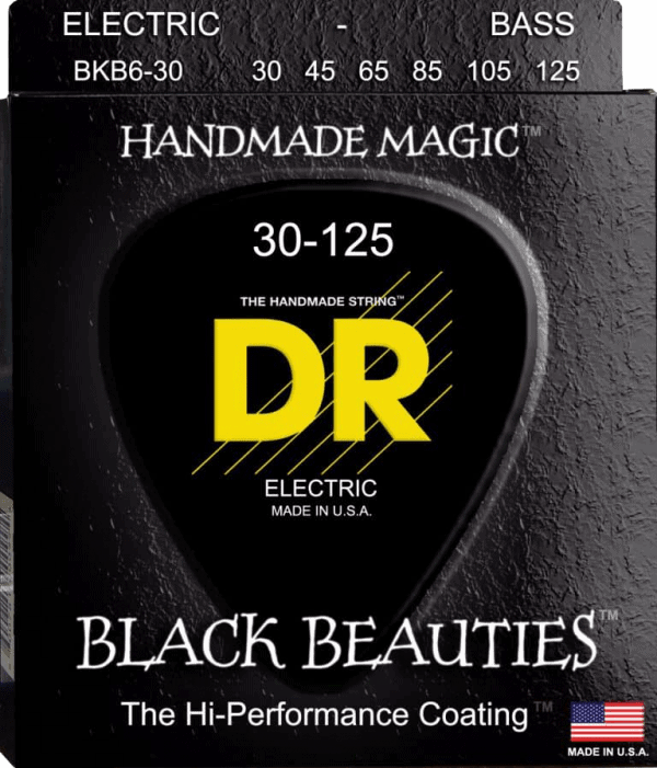 DR Strings Black Beauties 6 String Medium (30-125)