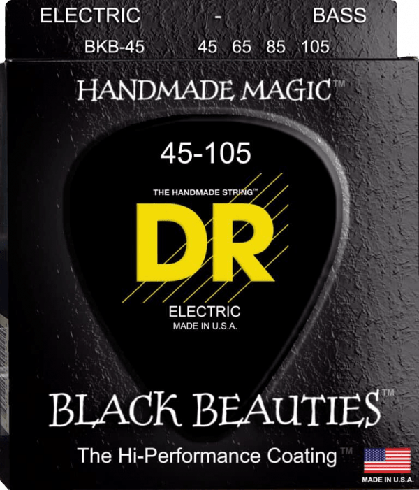 DR Strings Black Beauties 4 String Medium (45-105)