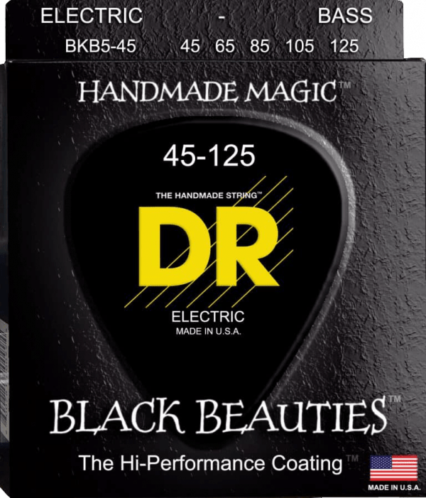 DR Strings Black Beauties 5 String Medium (45-125)