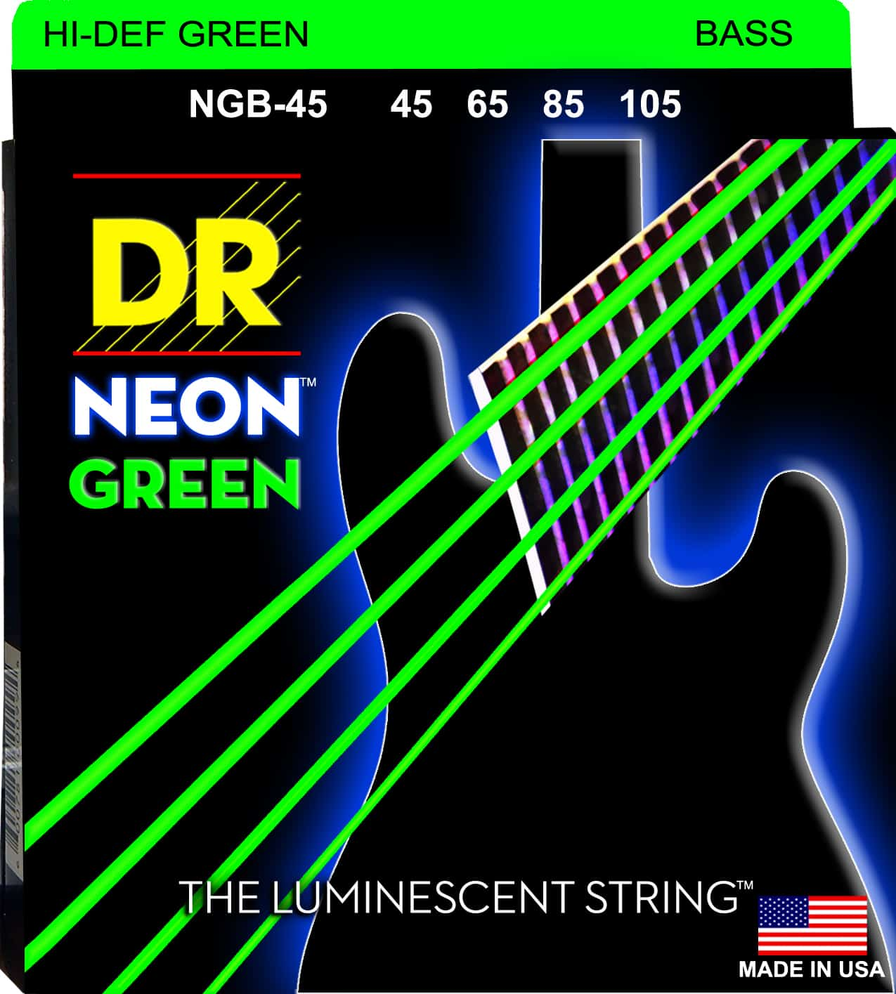 DR Strings Neon Green 4 String Medium (45-105)