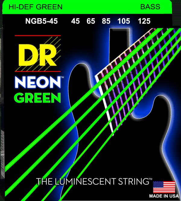 DR Strings Neon Green 5 String Medium (45-125)