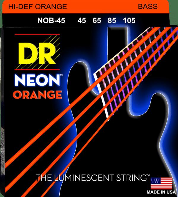 DR Strings Neon Orange 4 String Medium (45-105)
