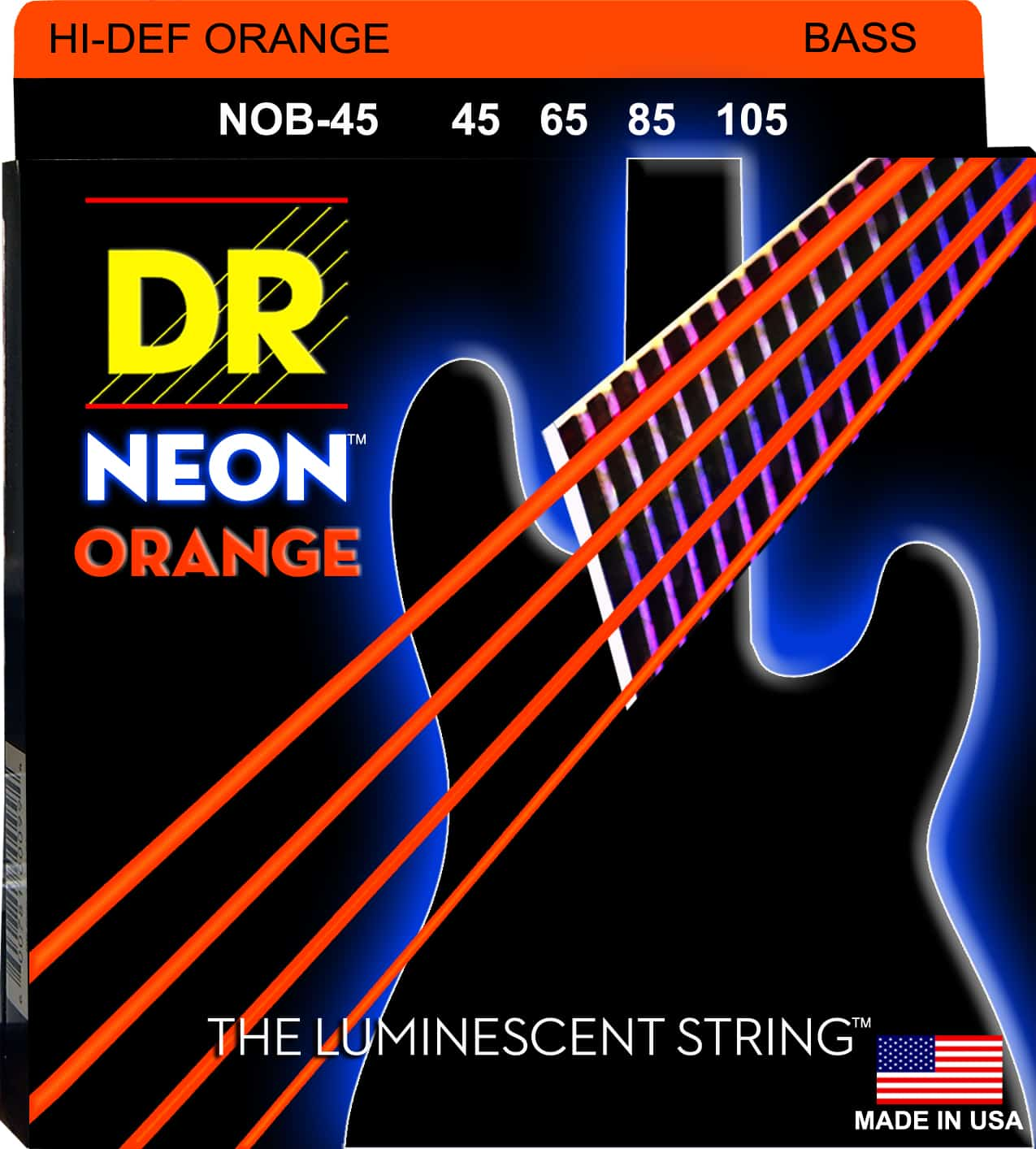 DR Strings Neon Orange 4 String Medium (45-105)