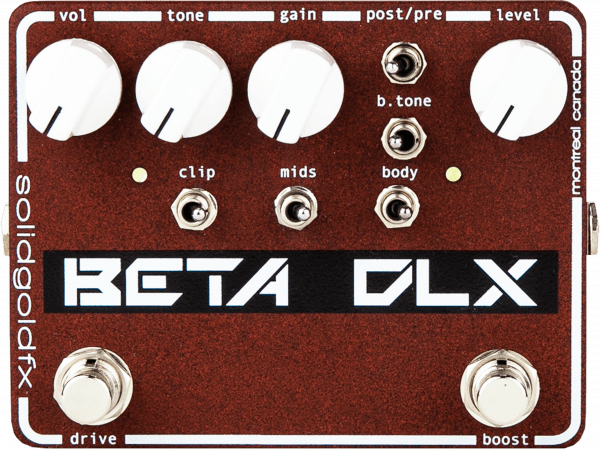 Solidgoldfx Beta DLX Deluxe Bass Preamp / Overdrive / Boost