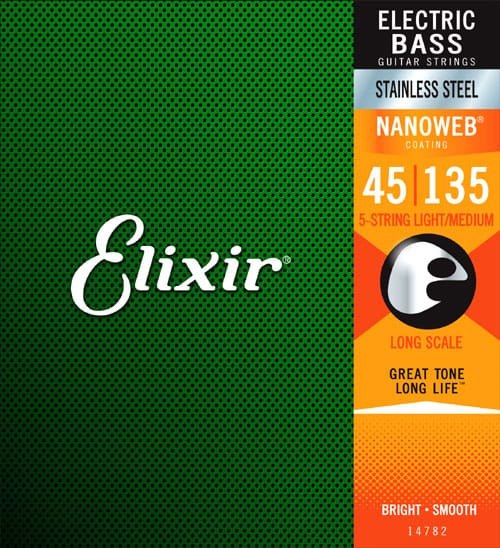 Elixir Electric Bass Stainless Steel with NANOWEB Coating (45-135)