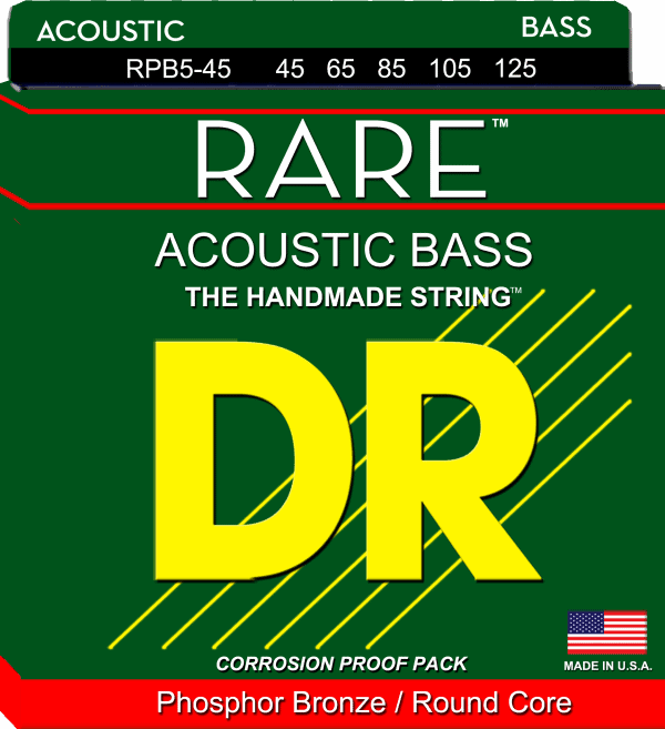 DR Strings Rare Acoustic Bass 5 String (45-125)